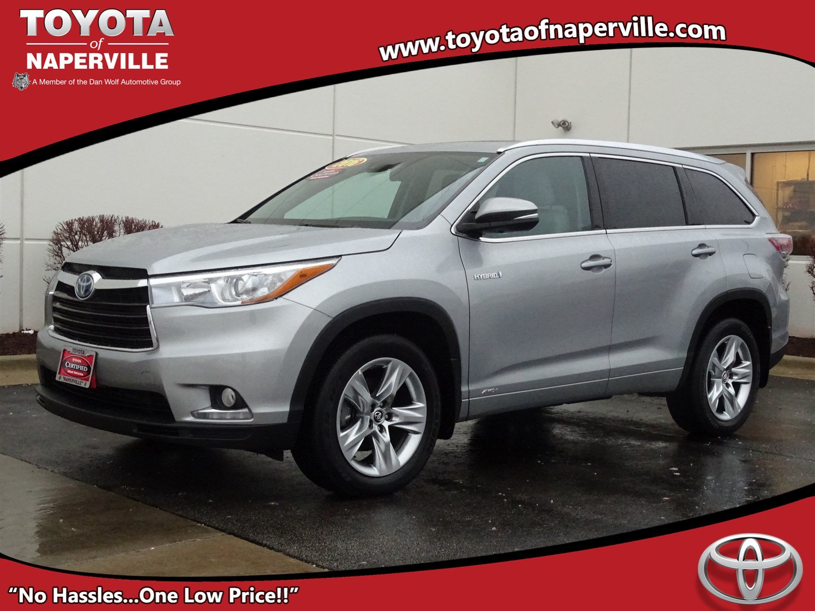 certified pre owned 2016 toyota highlander hybrid limited sport utility in naperville r2357. Black Bedroom Furniture Sets. Home Design Ideas